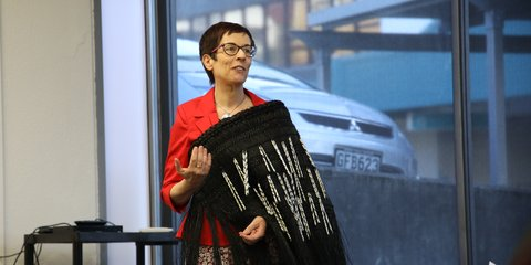 Secretary General Niamh Lawless at powhiri