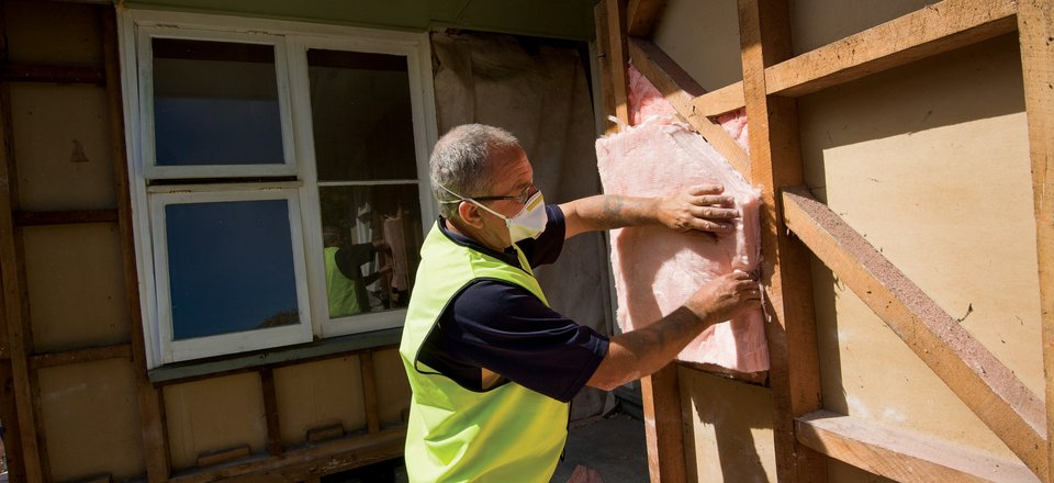 Installing insulation into Christchurch homes to make them warmer