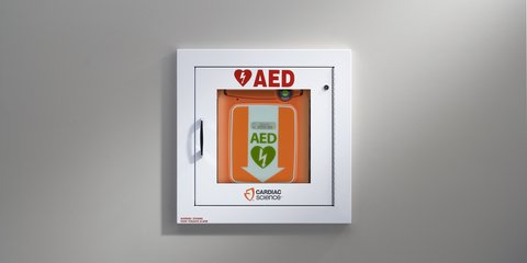 AED Wall Cabinet - first aid landing