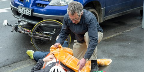 First Aid - injured cyclist