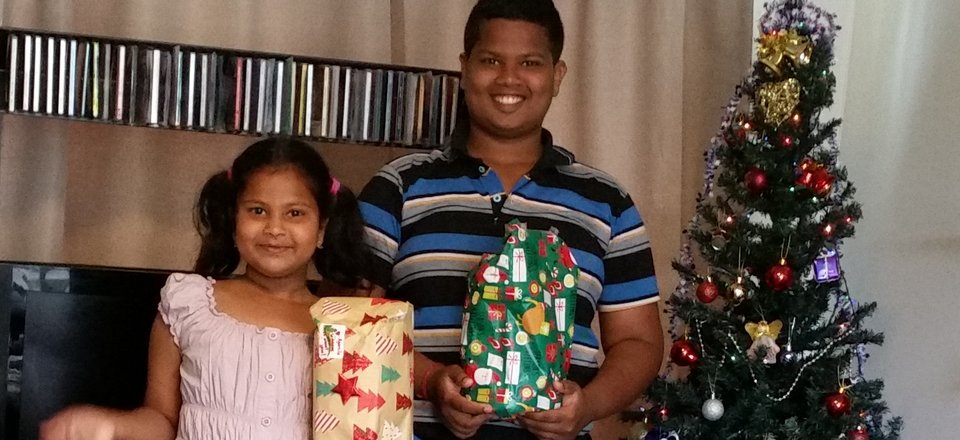 Christmas gift delivery for former refugee children
