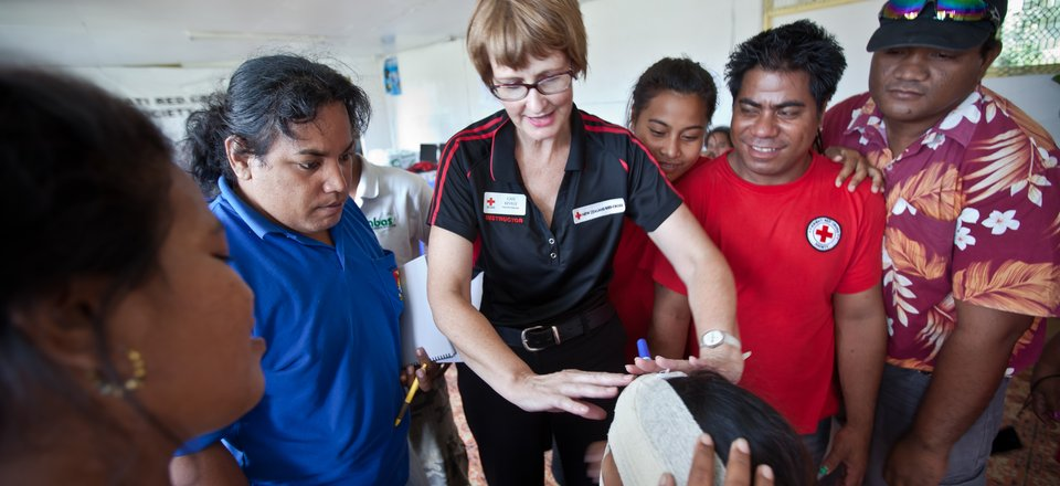 First Aid class in the Pacific