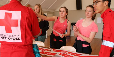 Students take part in the Youth in Emergency Services (YES) programme in Canterbury.