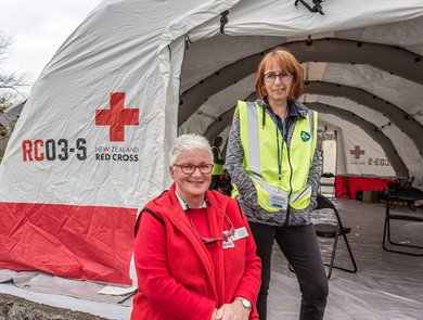 Disaster welfare and support volunteers in Havelock North