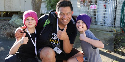 Kael, Pita and Blake at Rise Up in Manawatu